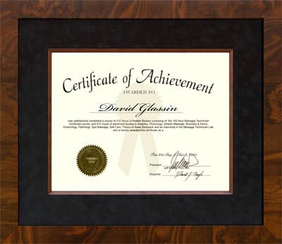Genuine Walnut Burl Certificate Frame
