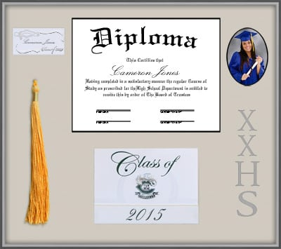 Silver Shadow Box Tassel Memory Frame | Frames of Achievement