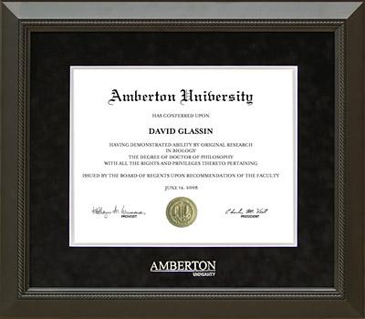Amberton University Classic Frame in Black Suede