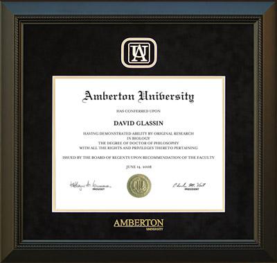 Amberton University Designer Frame