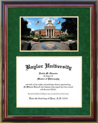 Baylor University Frame with Campus Artwork