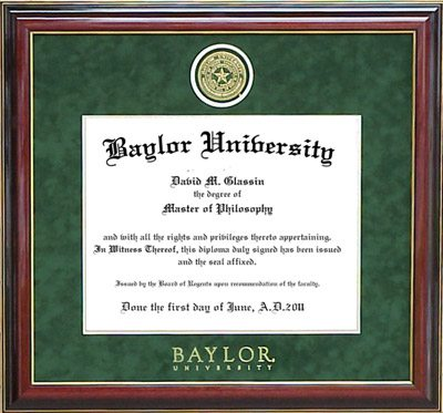 Baylor Designer Frame with Embossed Seal and Name Line