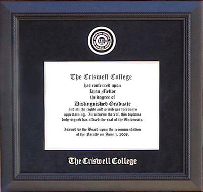 Criswell College Designer Frame in Carbon Black Suede