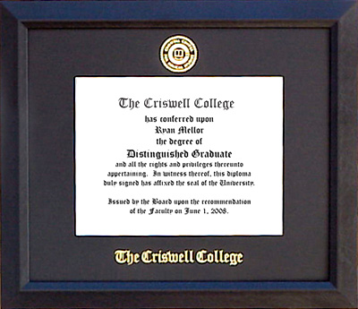 Criswell College Essential Diploma Frame