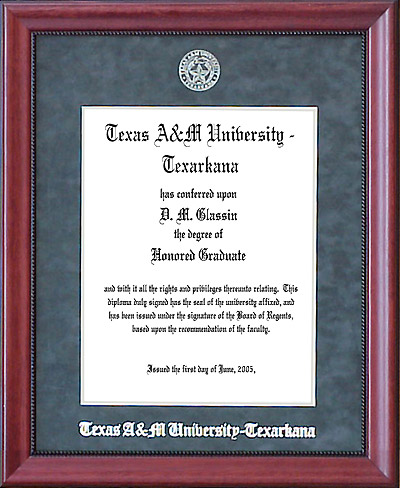 Texas A&M Texarkana Diploma Frame in Red Ascot | Frames of Achievement
