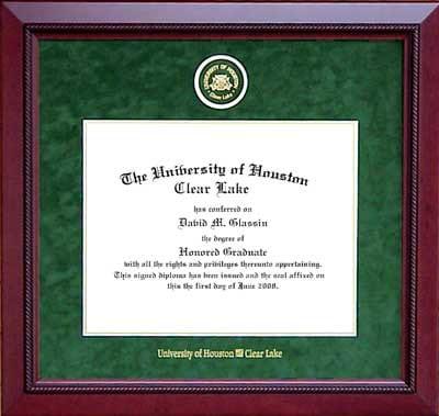 University of Houston – Clear Lake Designer Diploma Frame | Frames ...