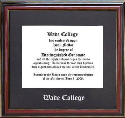 Wade College Essential Diploma Frame