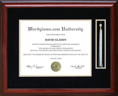 Tassel Diploma Frame in Mahogany | Frames of Achievement