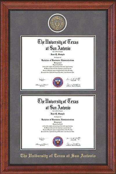 UTSA Double Diploma Frame | Frames of Achievement