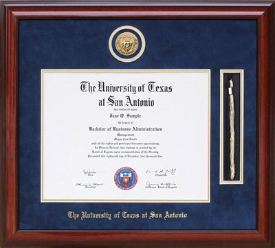 UTSA Medallion Tassel Diploma Frame | Frames of Achievement