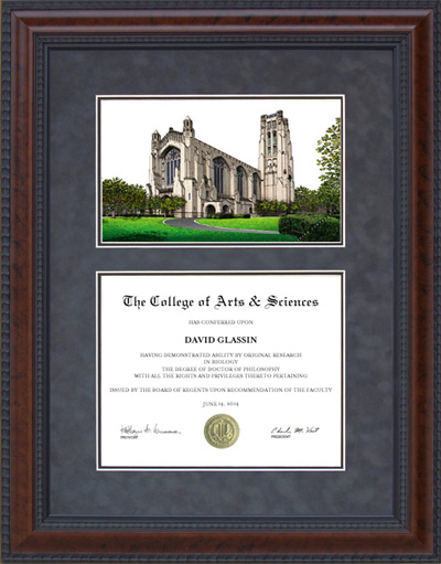 University of Chicago Campus Lithograph