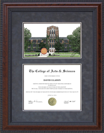Central Michigan University (CMU) Campus Lithograph