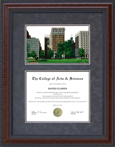Columbia College Campus Lithograph