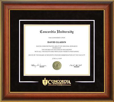 Concordia University Texas Classic Diploma Frame