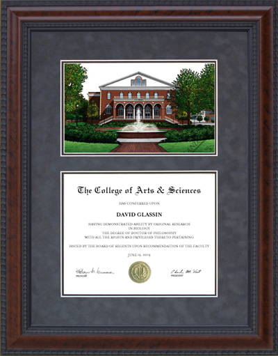 East Carolina University (ECU) Campus Lithograph