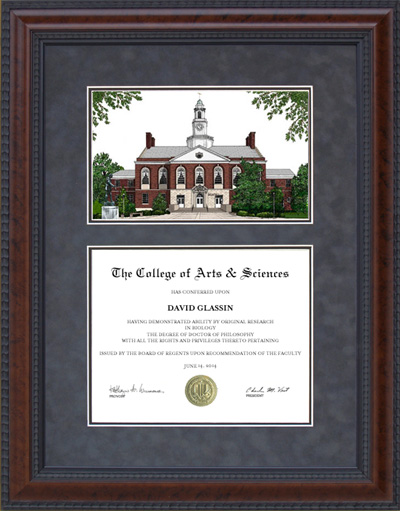 Eastern Kentucky University (EKU) Campus Lithograph
