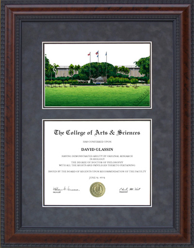 Florida Atlantic University (FAU) Campus Lithograph