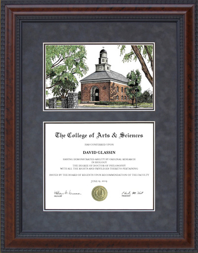 Diploma Frame With Illinois Wesleyan University Iwu