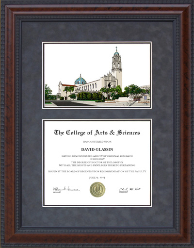 University of San Diego (USD) Campus Lithograph