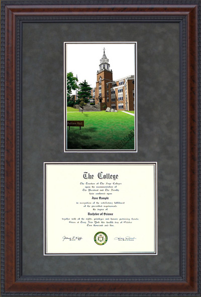 Southern Illinois University Carbondale (SIUC) Campus Lithograph
