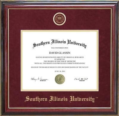 Southern Illinois University Designer Diploma Frame