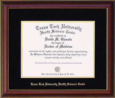 Texas Tech HSC Embossed Diploma Frame | Frames of Achievement