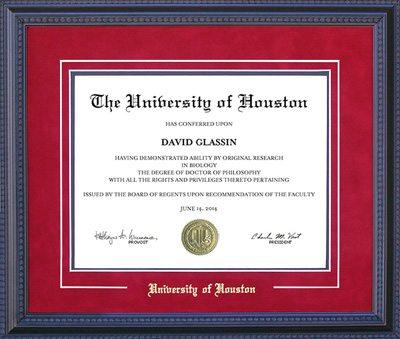 University of Houston Embossed Diploma Frame | Frames of Achievement