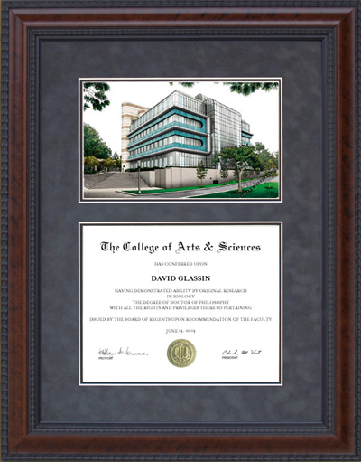 Texas A&M Cherry Diploma Frame with Campus Photo | Frames of Achievement