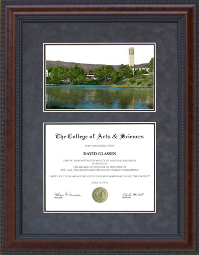 Diploma Frame with Licensed UC Santa Barbara (UCSB) Campus Lithograph