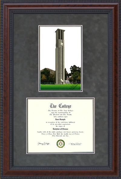 UC Riverside Diploma Frame with Campus Lithograph
